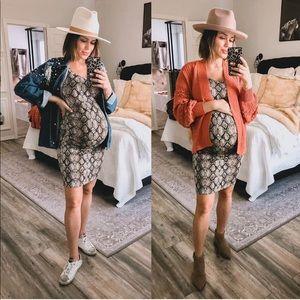 Snakeskin maternity dress
